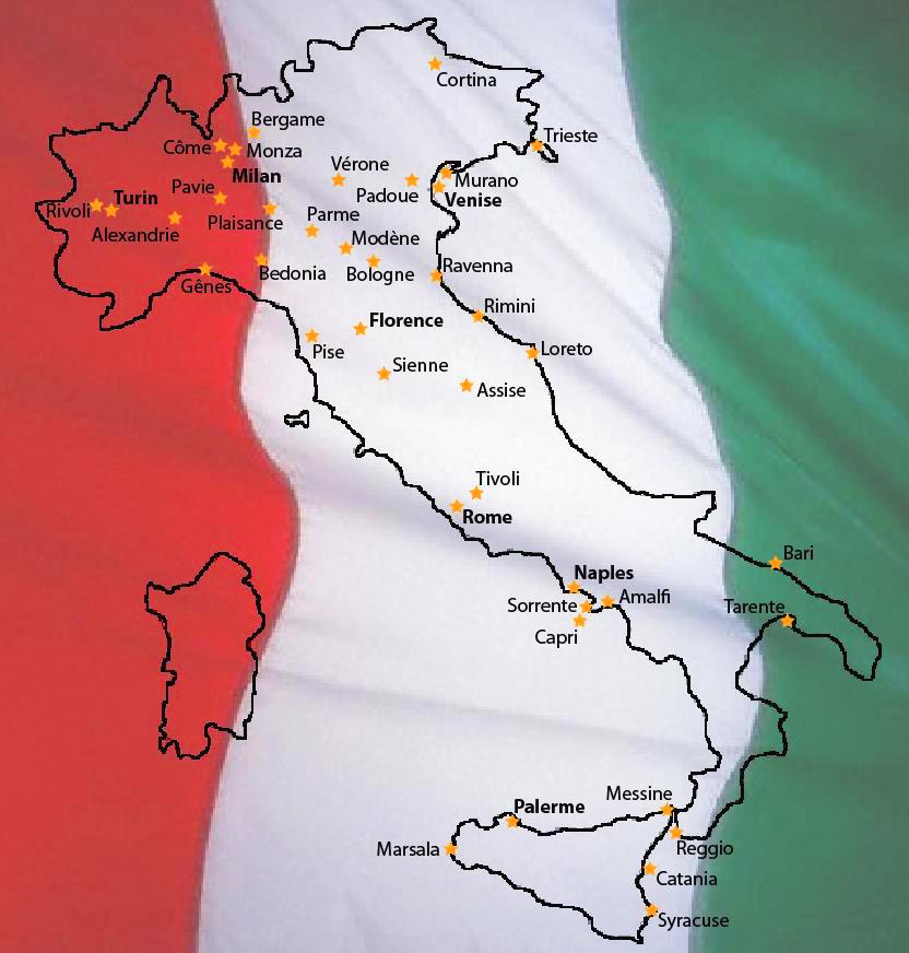 Carte Italie Venise Rome.Ct Chroniques Toponymiques Grandes Vacances Grand Voyage