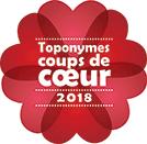 Toponymes coups de coeur de 2018.
